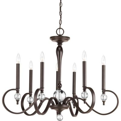 Esteem Collection 7-Light Antique Bronze Chandelier