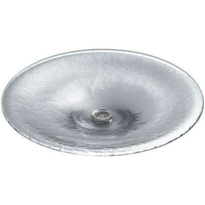 Lavinia Glass Vessel Sink in Ice