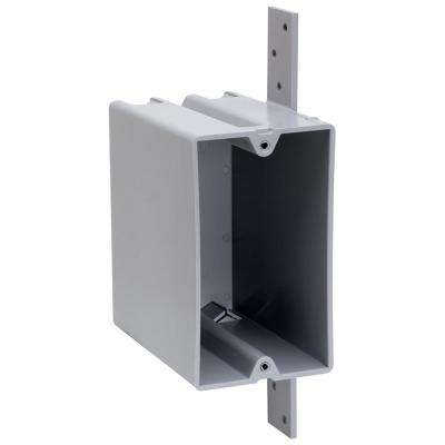 Slater New Work Plastic 1-Gang Vertical Bracket Mount Deep Switch and Outlet Box