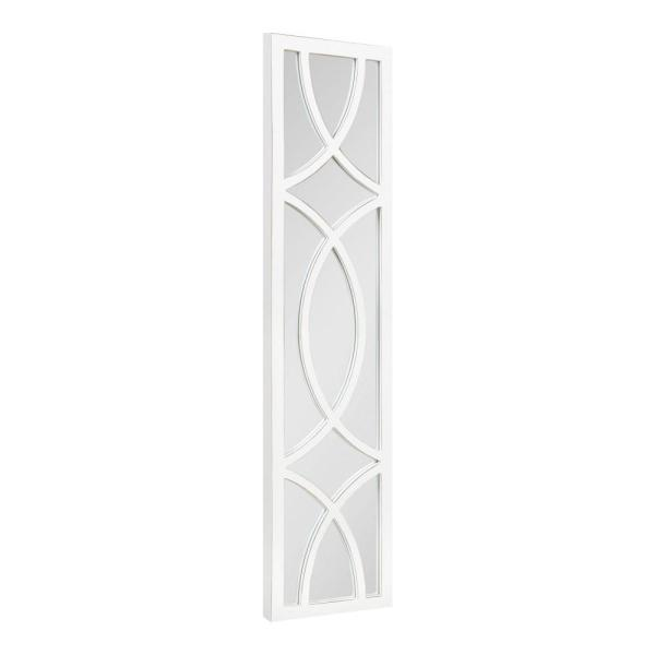 Large Rectangle White Classic Mirror (47.24 in. H x 11.73 in. W)