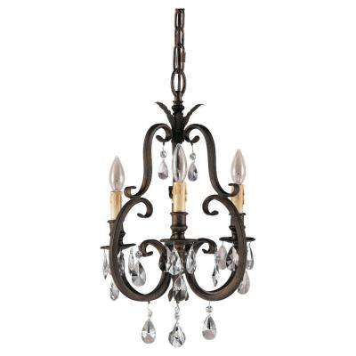 Salon Maison 3-Light Aged Tortoise Shell Mini Chandelier