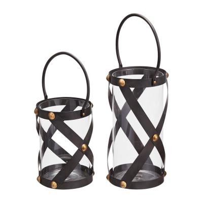 Home Decorators Collection Rivet Metal Candle Hanging or Tabletop Lantern (Set of 2)