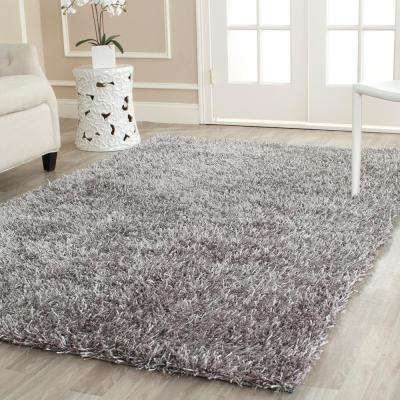 New Orleans Shag Gray 5 ft. x 8 ft. Area Rug