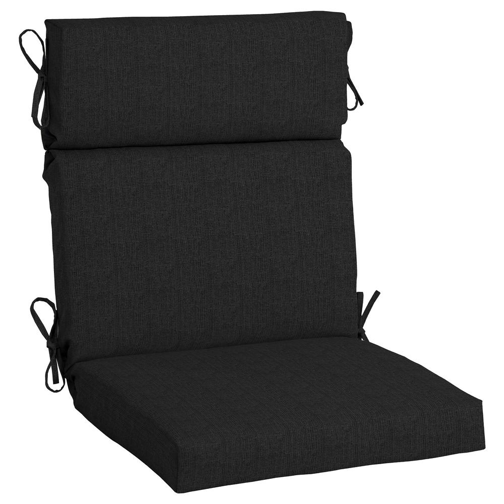 Home Decorators Collection 21.5 x 20 Outdoor Dining Chair Cushion in  Sunbrella Canvas Black - Home Decorators Collection 21.5 X 20 Outdoor Dining Chair Cushion In