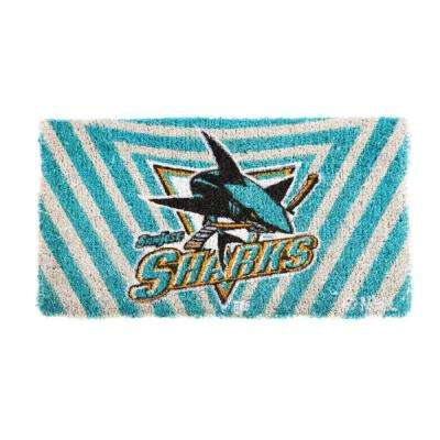 NHL 18 in. x 30 in. San Jose Sharks Bleached Welcome Mat