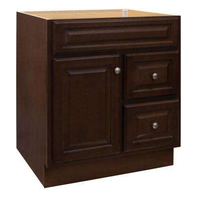 Hampton 30 in. W x 21 in. D x 33.5 in. H Bathroom Vanity Cabinet Only in Cognac