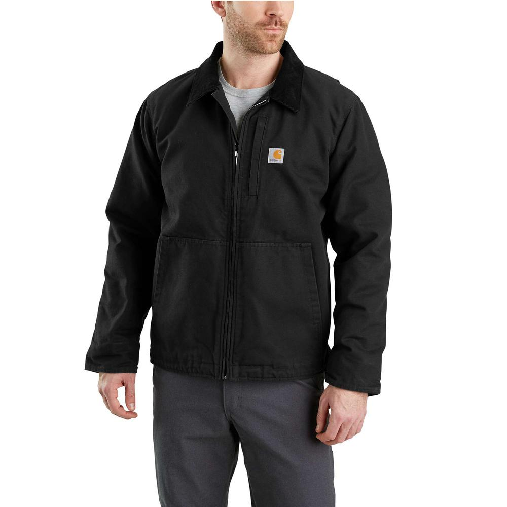 78a31b75f Carhartt Men's Regular Small Black Cotton Full Swing Armstrong Jacket