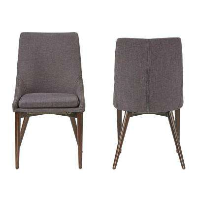 Nobleton Charcoal Linen Dining Chair (Set of 2)