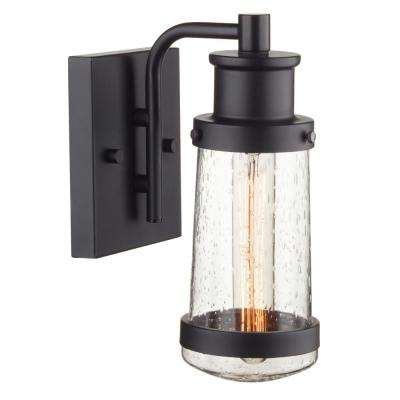 Bennett 1-Light Matte Black Outdoor Wall Mount Sconce