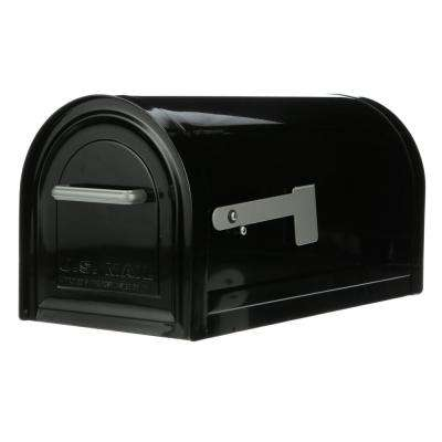 Reliant Large, Locking, Post Mount Mailbox, Black