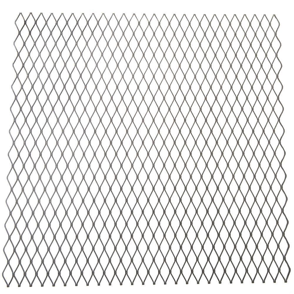 Everbilt 24 in. x 3/4 in. x 24 in. Plain Expanded Metal Sheet-801427 ...