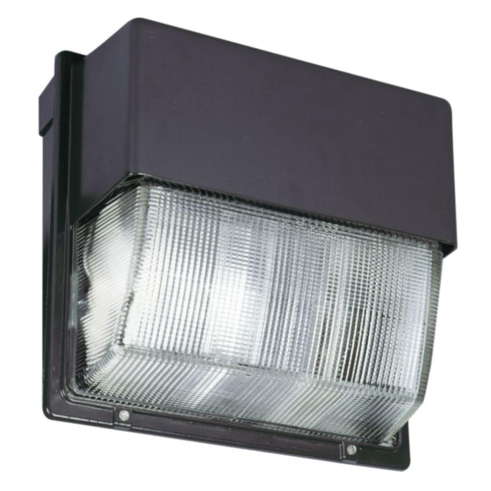 Wall packs commercial lighting the home depot bronze outdoor integrated led 5000k wall pack light aloadofball Choice Image