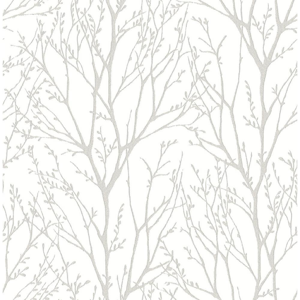 Kenneth James Autumn Silver Tree Wallpaper Sample 2671-22441SAM