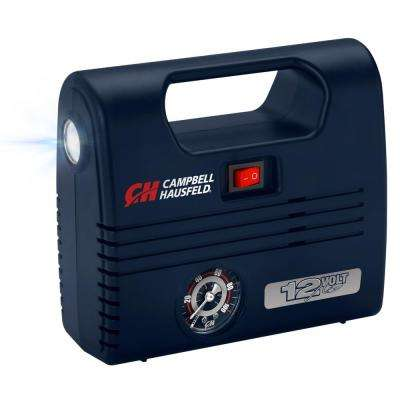 Portable Lightweight 100 PSI 12-Volt Inflator with LED Light Handle and Inflation Nozzles