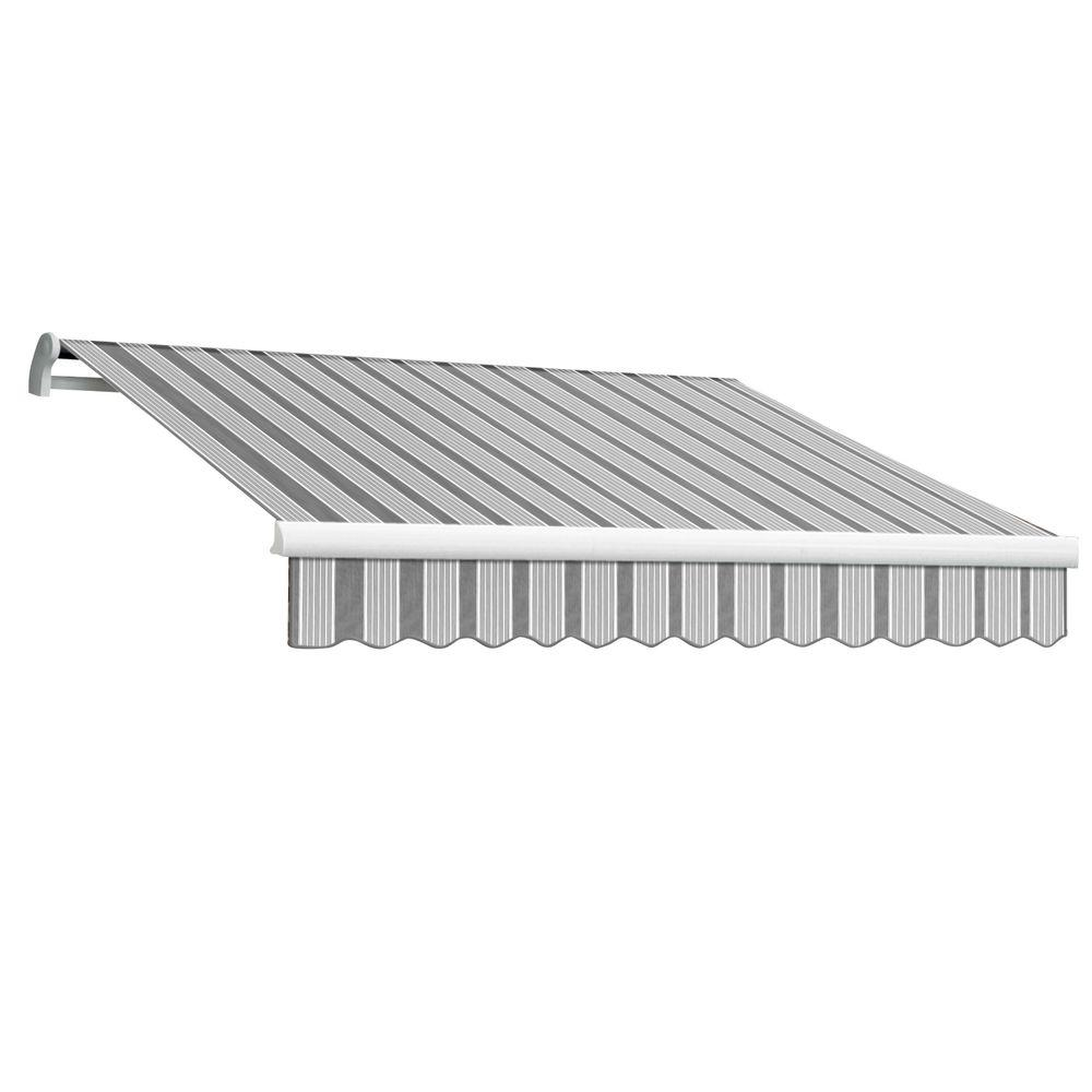 AWNTECH 16 ft. Maui-LX Right Motor Retractable Acrylic Awning with Remote (120 in. Projection) in Gun/Grey