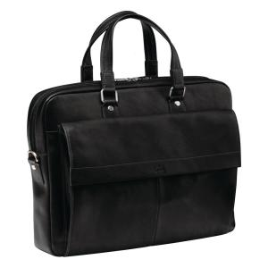 Slim Black Briefcase for 12 inch Laptop/Tablet by
