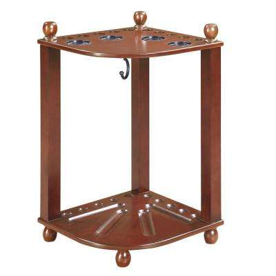 Regent Walnut Finished Corner Floor Cue Rack