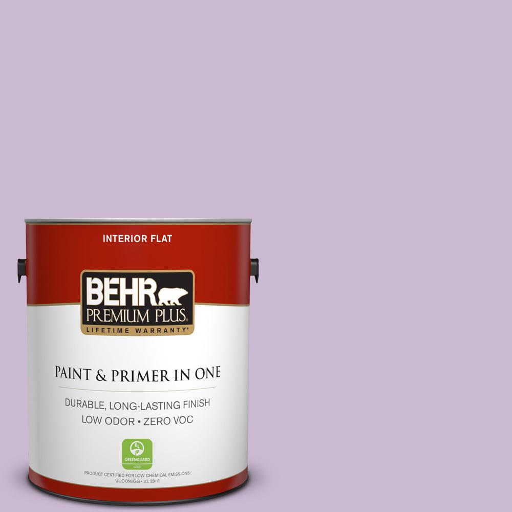 1-gal. #660C-3 Sweet Petal Zero VOC Flat Interior Paint
