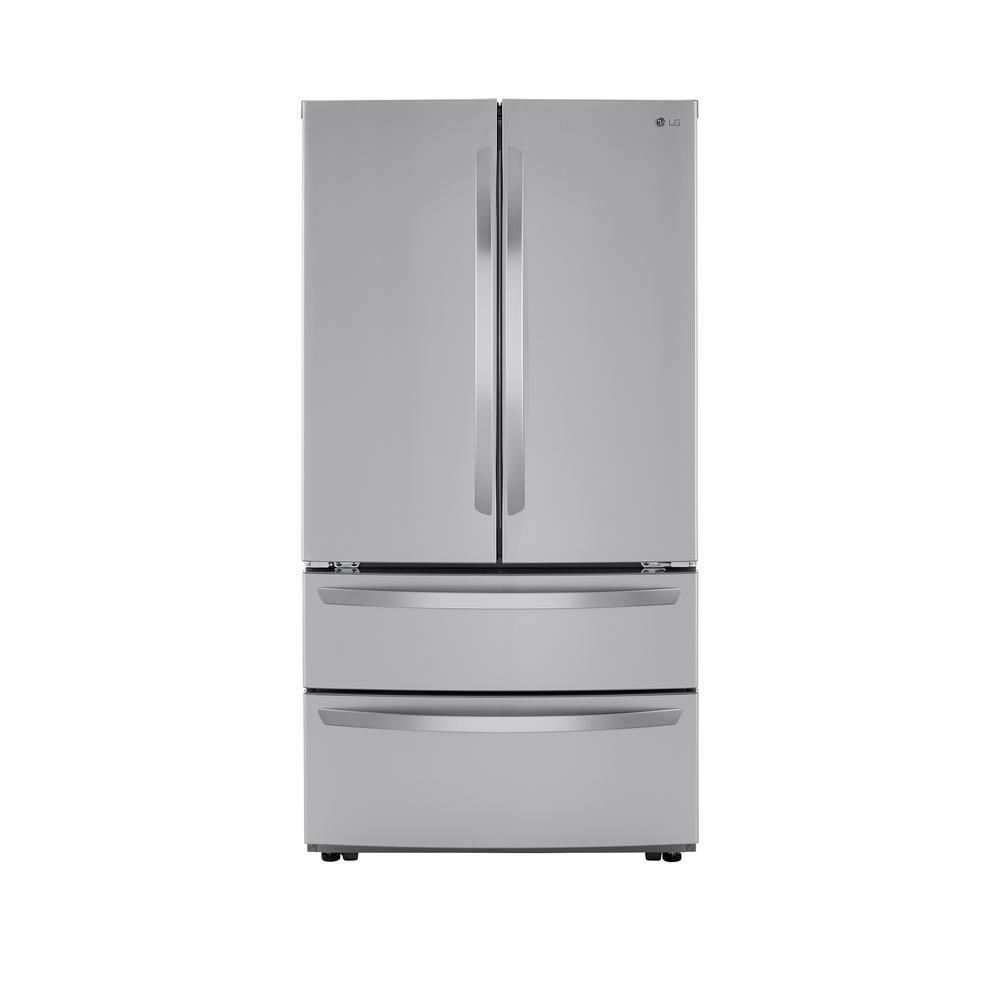 LG Electronics 26.9 cu. ft. 4-Door French Door Refrigerator with Internal Water Dispenser in PrintProof Stainless Steel was $2199.0 now $1528.2 (31.0% off)