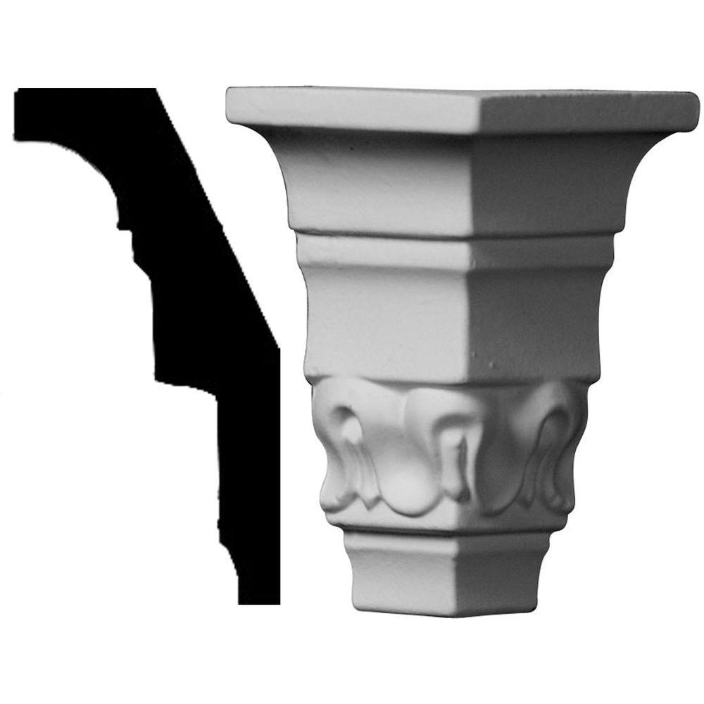 1-1/2 in. x 1-1/2 in. x 3-1/8 in. Polyurethane Crown Outside Corner Moulding