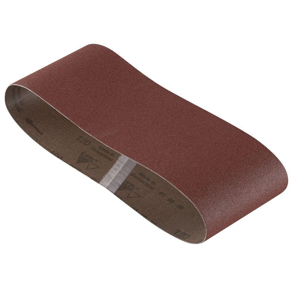 Bosch 4 inch x 24 inch 120-Grit Red Sanding Belt (3-Pack) by Bosch