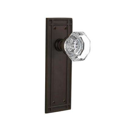 Mission Plate Double Dummy Waldorf Door Knob in Oil-Rubbed Bronze