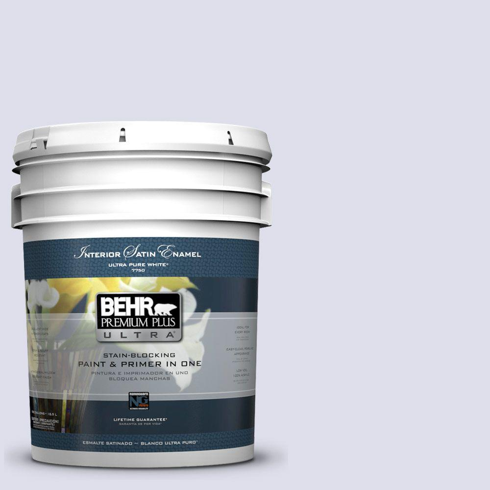 BEHR Premium Plus Ultra 5-gal. #640C-1 Hosta Flower Satin Enamel Interior Paint