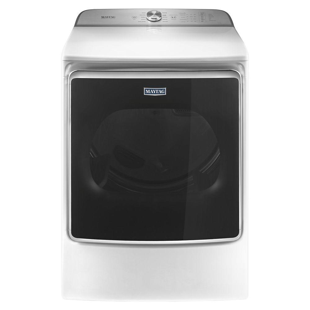 Maytag 9 2 Cu Ft 240 Volt White Electric Vented Dryer With Extra Moisture