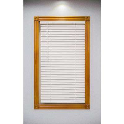 Alabaster Cordless 1 in. Vinyl Mini Blind - 33 in. W x 64 in. L