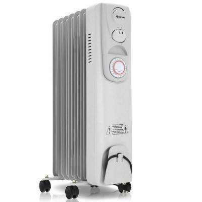 1500-Watt Electric Oil-filled Radiator Heater Space Heater 7-Fin Timer Thermostat Safety Shut-Off