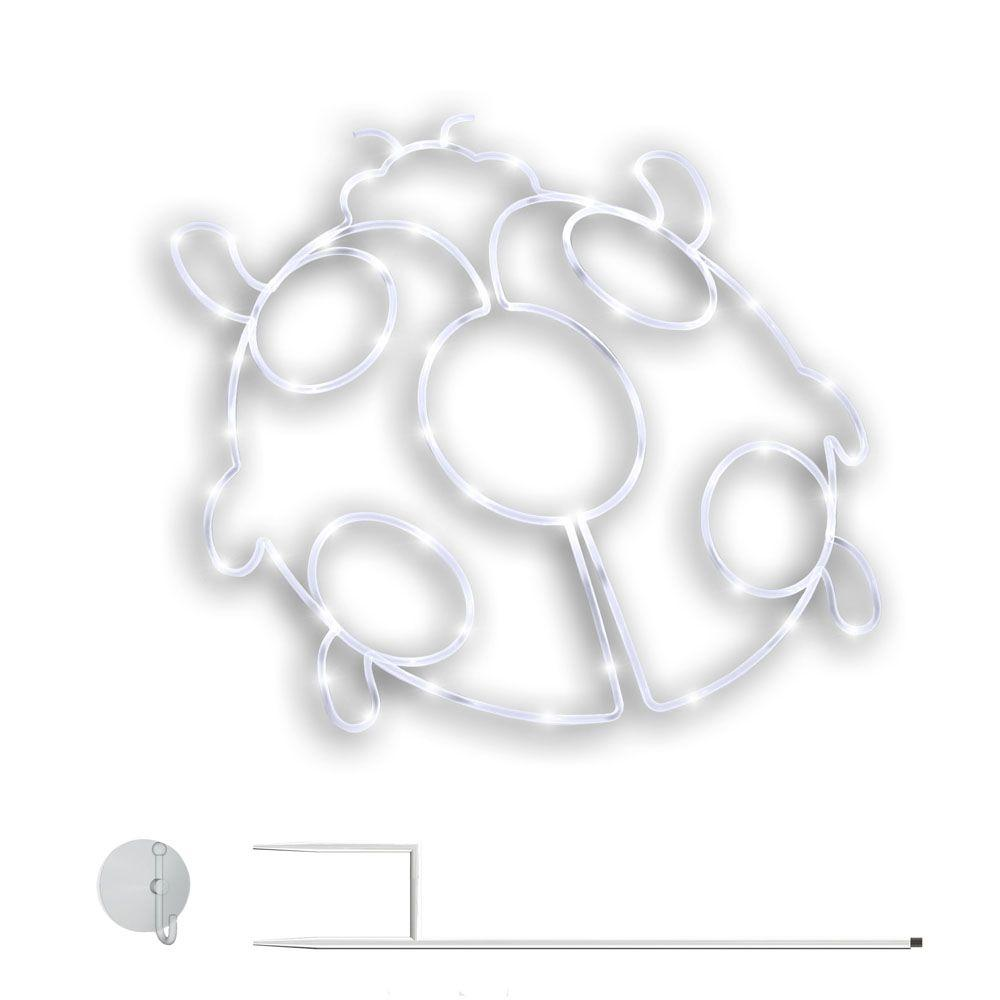 Meilo Lady Bug Stake Pre-Lit LED Cold White