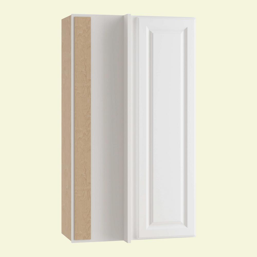 Home decorators collection hallmark assembled 27x42x12 in wall blind corner kitchen cabinet in for Arctic white kitchen cabinets