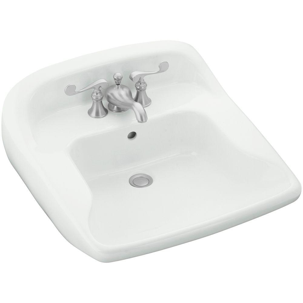 STERLING Worthington Wall-Mounted Vitreous China Bathroom Sink in White with Overflow Drain