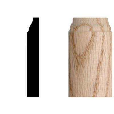 3/8 in. x 3/8 in. x 3-1/4 in. Oak Radius Base Corner Block Moulding