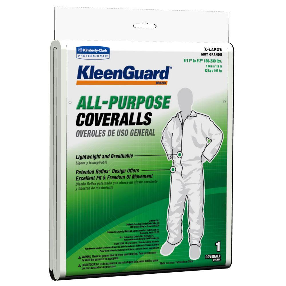 KLEENGUARD White Extra-Large All-Purpose Coveralls