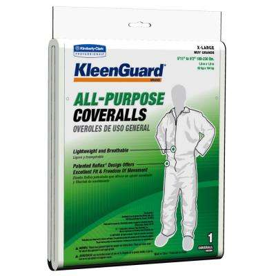 White Extra-Large All-Purpose Coveralls