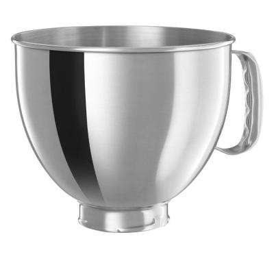 5 Qt. Bowl in Polished Stainless Steel with Comfort Handle for Tilt-Head Stand Mixers