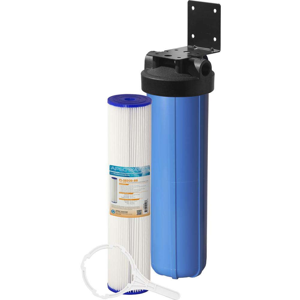 Whole House 1-Stage Water Filtration System Reusable and Washable Pleated