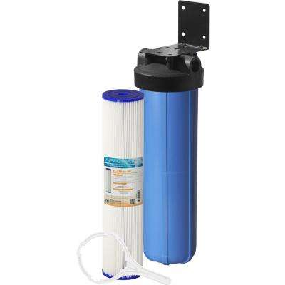 Whole House 1-Stage Water Filtration System Reusable and Washable Pleated Sediment For All Purpose