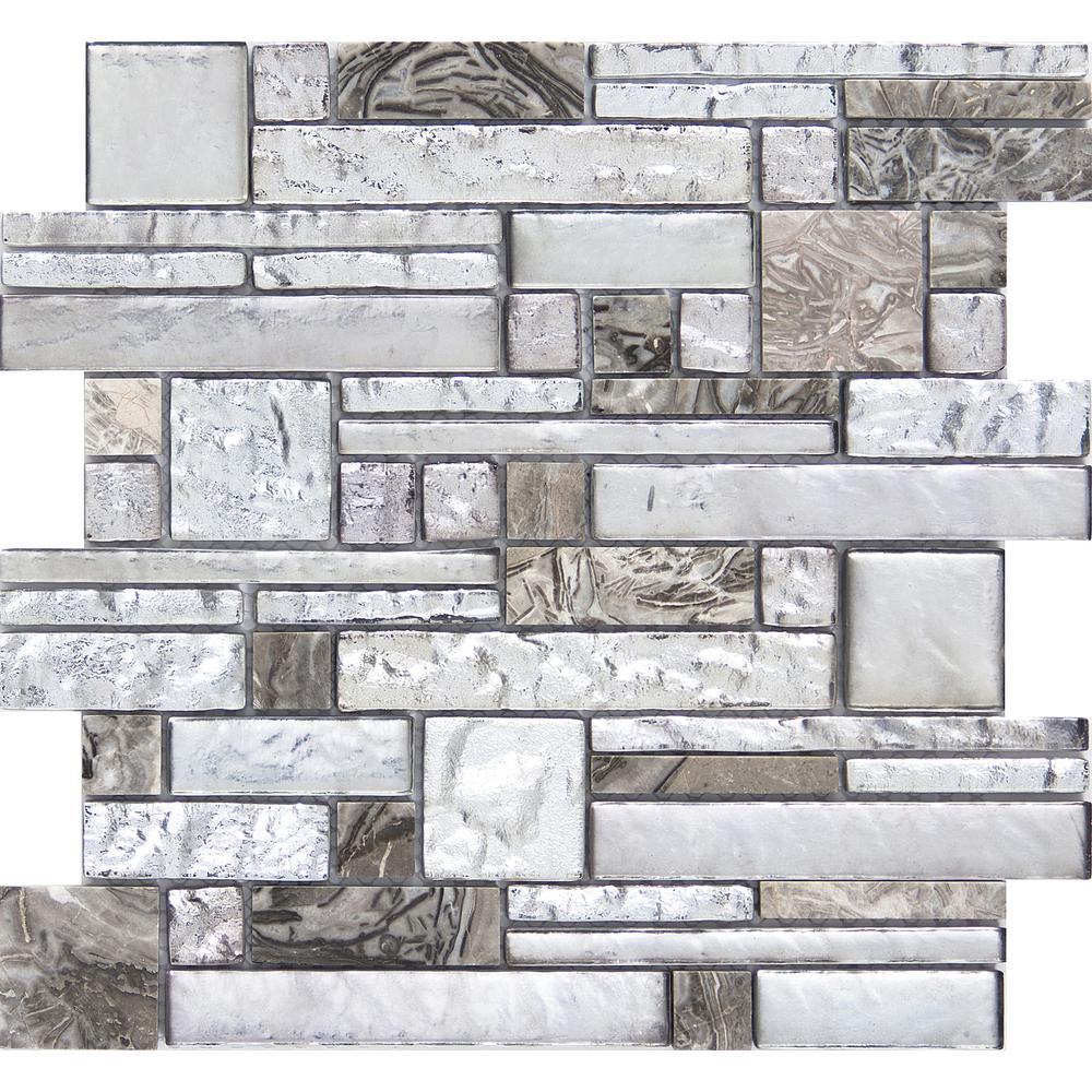 Emser Vista Backdrop Glossy 11.81 in. x 11.81 in. x 8mm Glass Mesh-Mounted Mosaic Tile (0.97 sq. ft.)