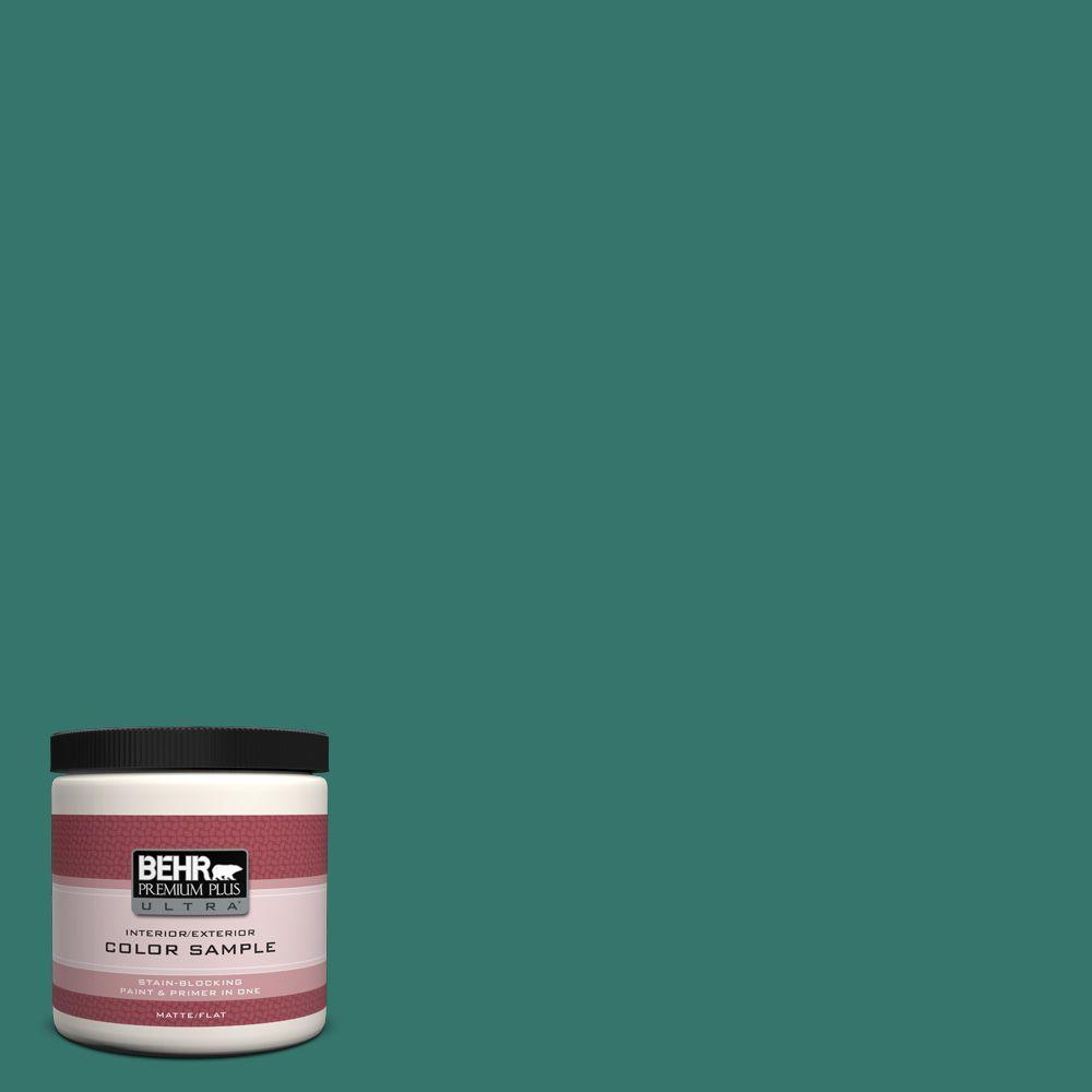 BEHR Premium Plus Ultra 8 oz. #490D-7 Greensleeves Interior/Exterior Paint Sample