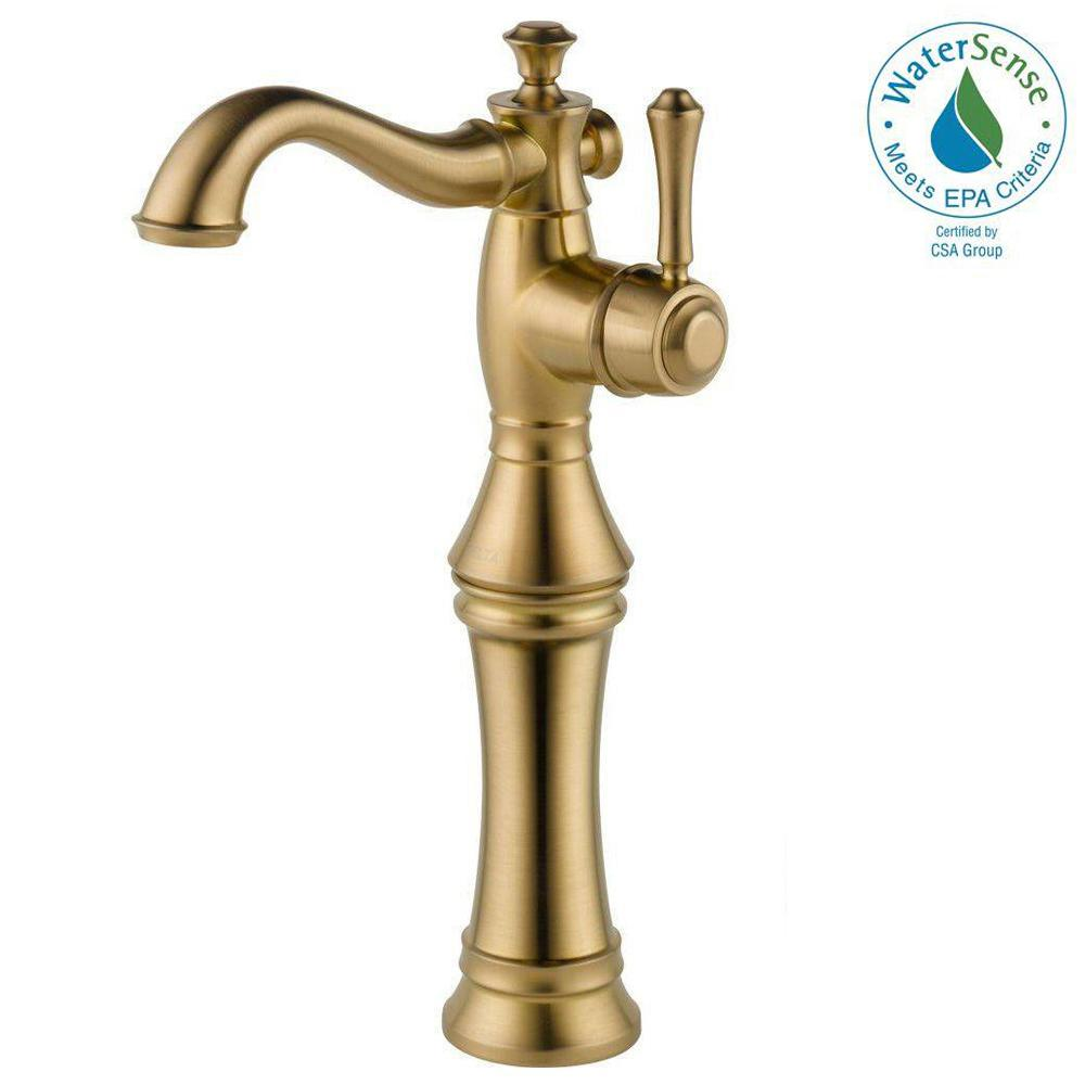 Delta Cassidy Single Hole Single Handle Vessel Bathroom Faucet In