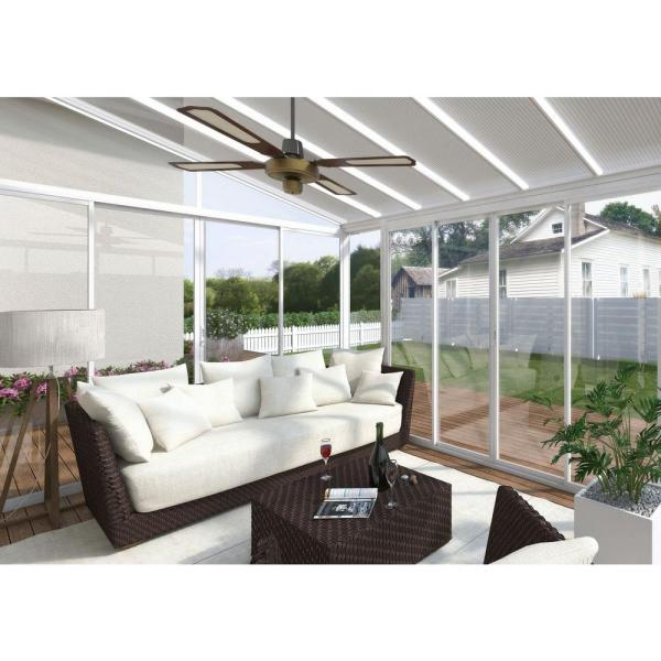 Palram Sanremo 10 Ft X 14 Ft White White Patio Enclosure 703062 The Home Depot