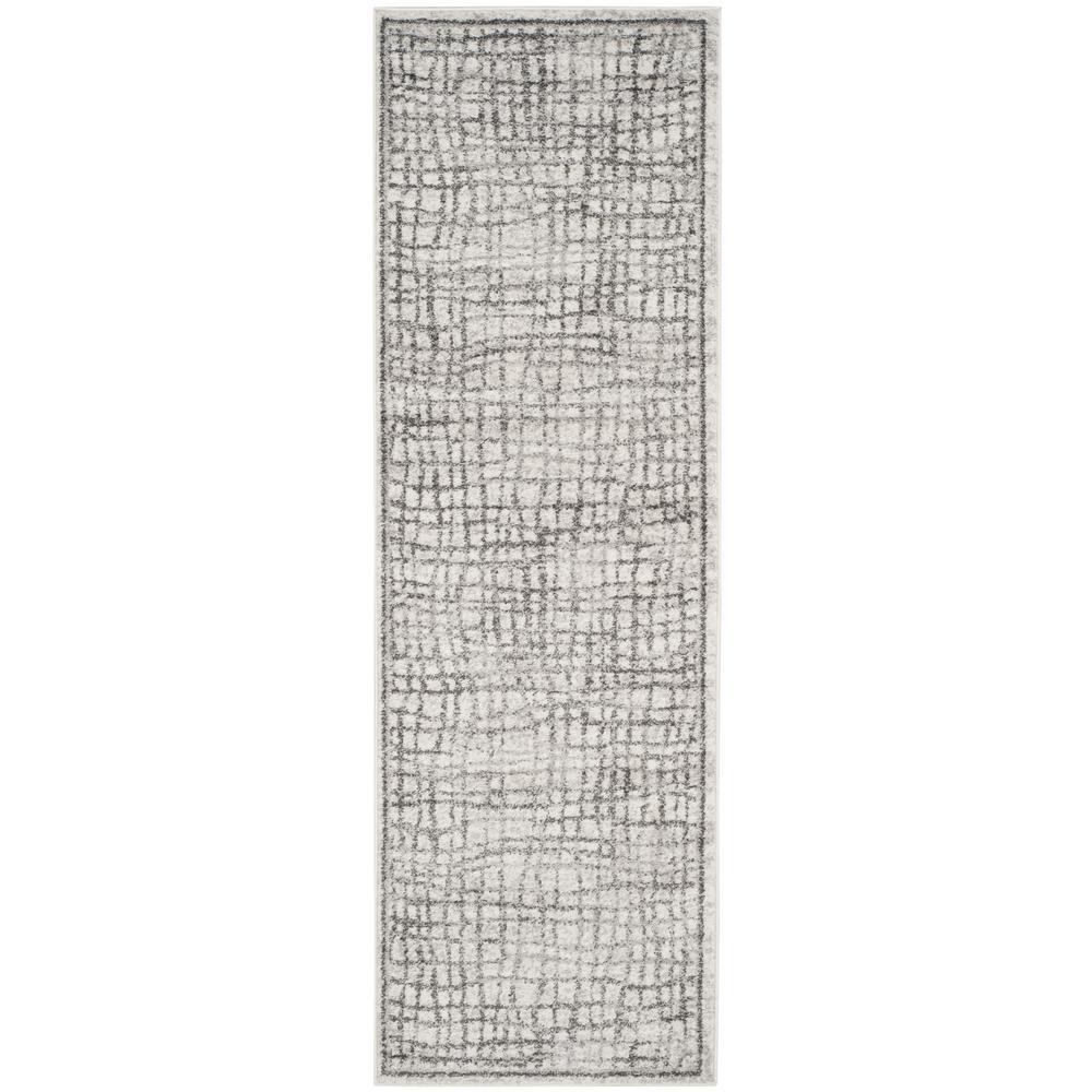 Adirondack Silver/Ivory 3 ft. x 12 ft. Runner
