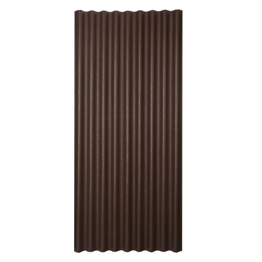 3 ft. x 6.5 ft. Corrugated Asphalt Roof Panel in Brown
