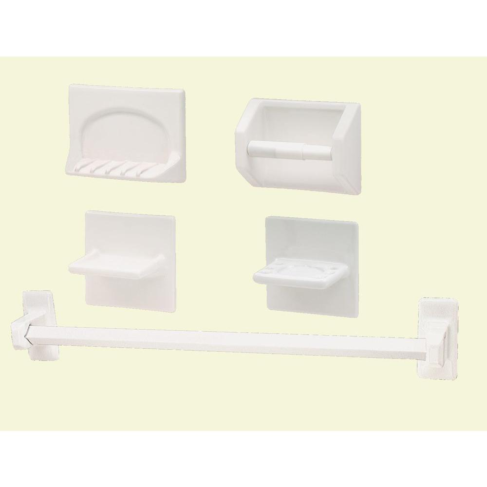 Lenape White Porcelain Bath Accessory Set (5-Piece)-1905-01 - The ...