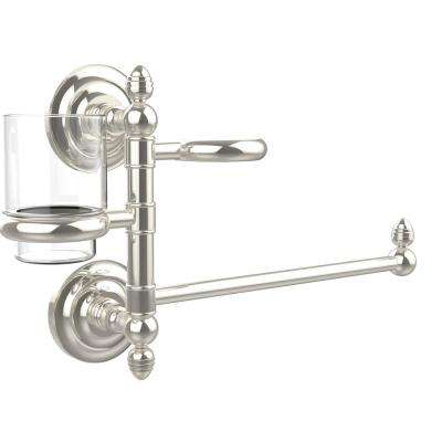 Que New Collection Hair Dryer Holder and Organizer in Polished Nickel