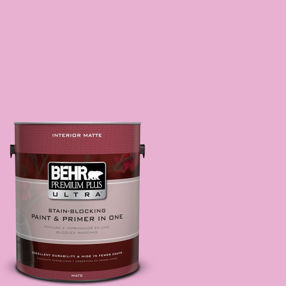 1 gal. #P120-2 Gumball Matte Interior Paint