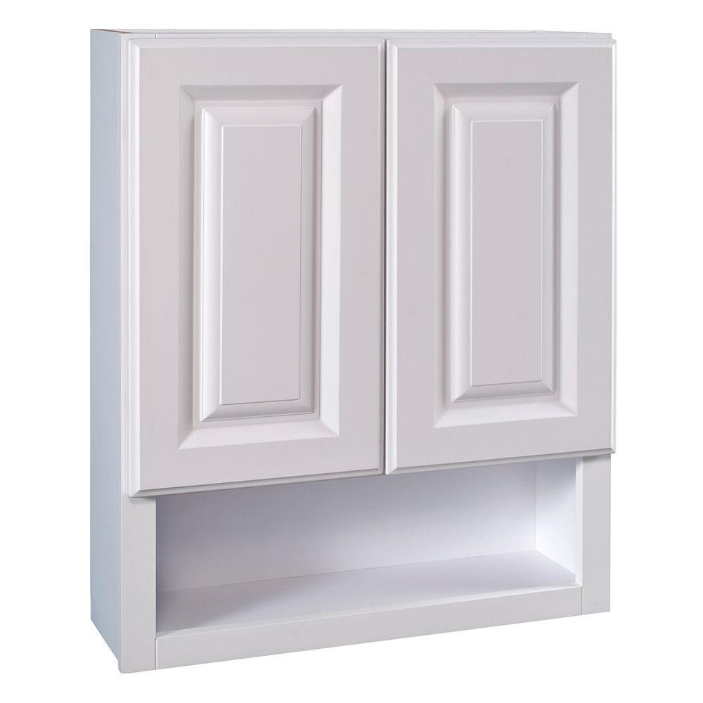 Home decorators collection hallmark assembled 24x30x8 in for Arctic white kitchen cabinets