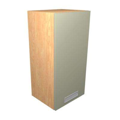 Genoa Ready to Assemble 15 x 38 x 12 in. Wall Cabinet with 1 Soft Close Doors in Almond